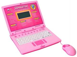 Детский Русско-Английский обучающий компьютер (Joy Toy 7161) розовый