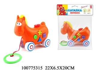 Каталка GT8887 Лошадь со звуком, на батарейках, в пакете 22*18*6,5см TOP TOYS