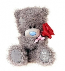 Мишка G01W3494 Тедди Me to You 25 см с розой