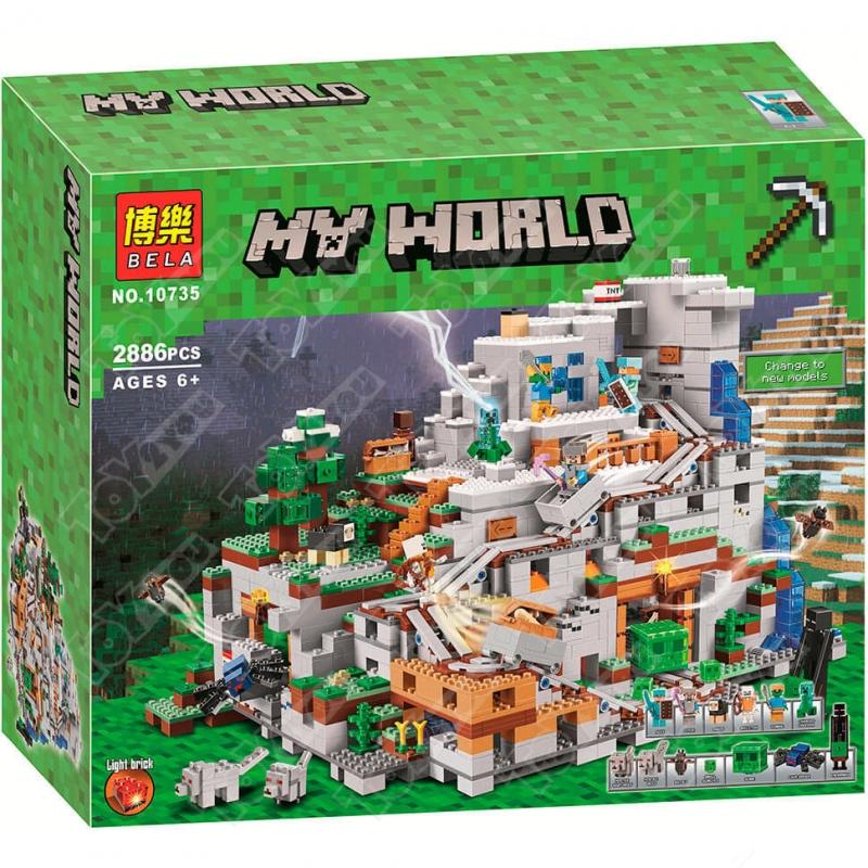 Конструктор MY World Горная Пещера Майнкрафт 21137 10735(2886 детали)