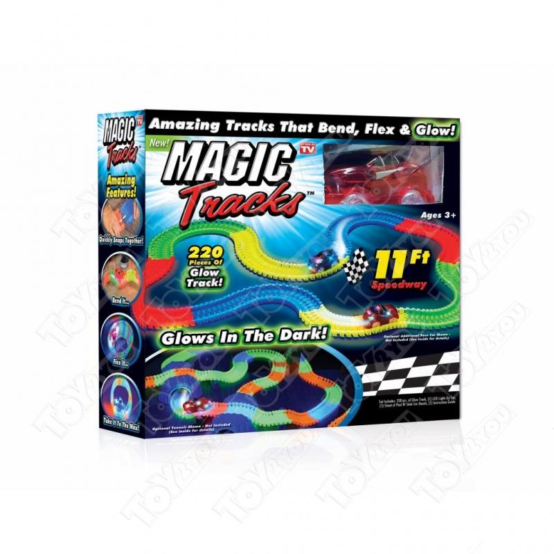 Гоночная трасса Magic Tracks 220 светящаяся - 220 деталей