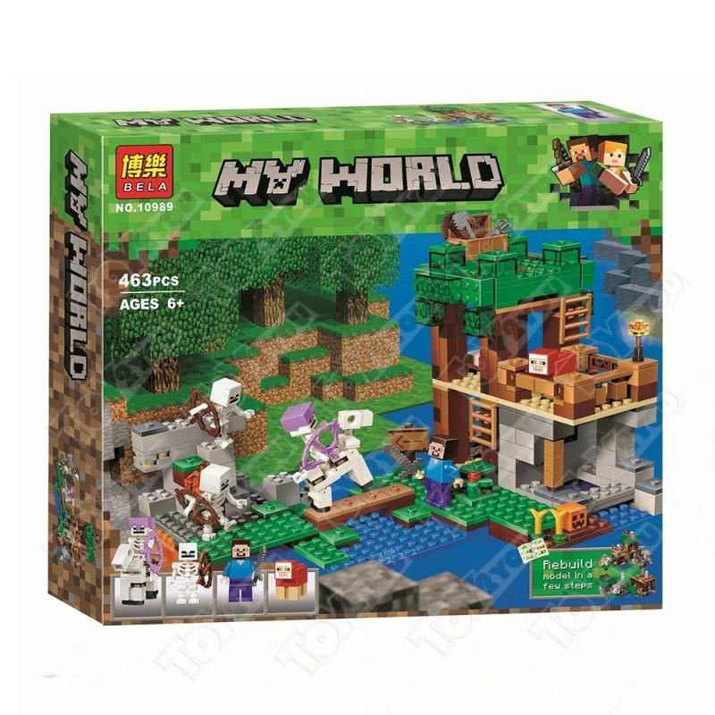 Конструктор MY World Нападение Армии Скелетов Майнкрафт 21146 BELA 10989(463 детали)