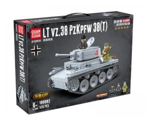 Конструктор Легкий немецкий танк LT vz.38 PZKPFW 535 деталей (QUAN GUAN 100082)