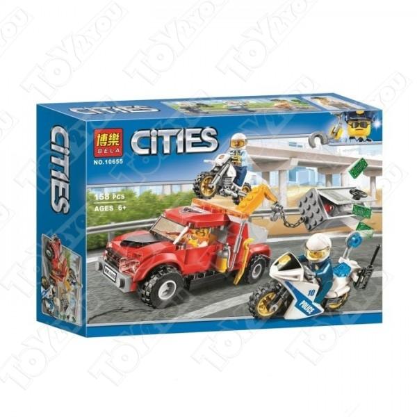Конструктор City Побег на буксировщике 158 деталей 60137 BELA 10655