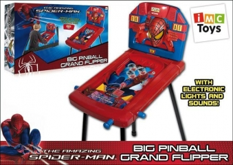 Пинбол SPIDER-MAN со звуком и светом, на батарейках, в коробке TM MARVEL 550100