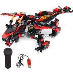Конструктор Техникс/Ниндзяго Каменный дракон Mould King 13021 (433 деталей) с ПДУ