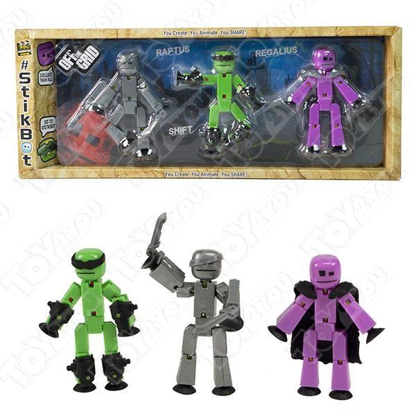 Набор из 3-х злодеев Stikbot off the Grid