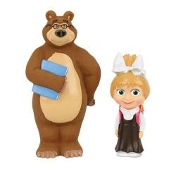 Пластизоль GT6988 Маша-школьница с Мишкой в коробке ТМ Маша и Медведь