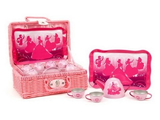 """Набор посуды PRINCESS """"Чайный сервиз"""" 9 предметов, металл, в чемодане Disney GT7410"""