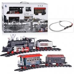 """Электрическая железная дорога YY-127 """"Эпоха железных дорог"""" со звуком, светом и дымом, на батарейках"""