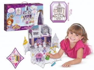 Набор 205086 Создай замок Sofia, в коробке ТМ Disney