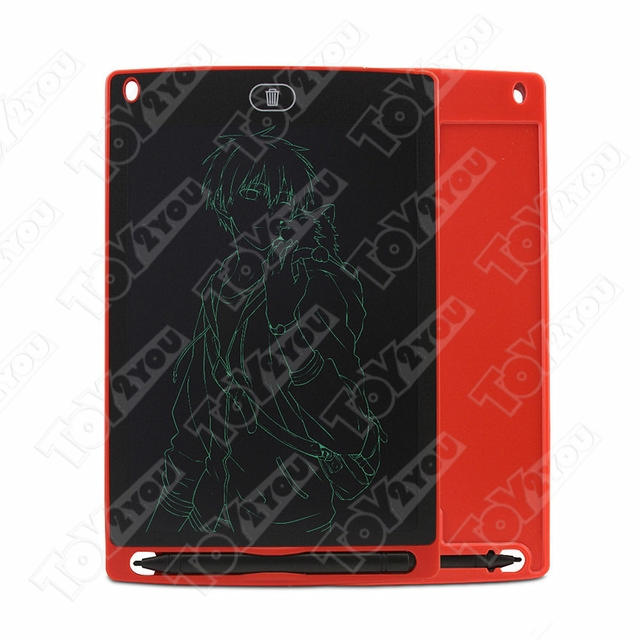 Детский графический планшет 8,5 дюймов (ЖК-блокнот для письма) Красный