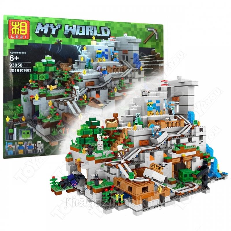 Конструктор MY World Горная Пещера Майнкрафт 21137 LE LE 93058(2018 детали)