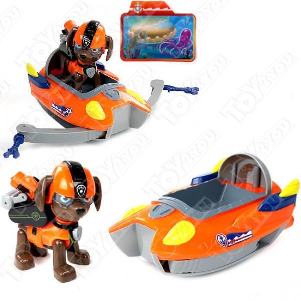 """Набор игрушек Щенячий патруль """"Морской Патруль"""" - 6 героев с большими машинками"""