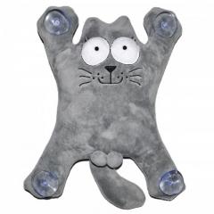 Мягкая игрушка на присосках Кот Саймон 28см большой (серый)