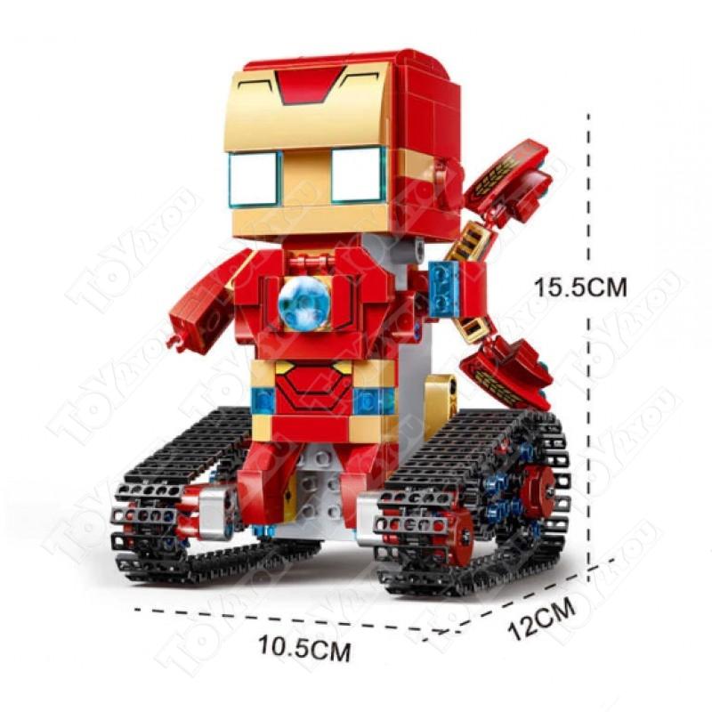 Конструктор Техникс Брикхеад Железный Человек 41604 Mould King Iron Men 13038 (388 деталей) с ПДУ