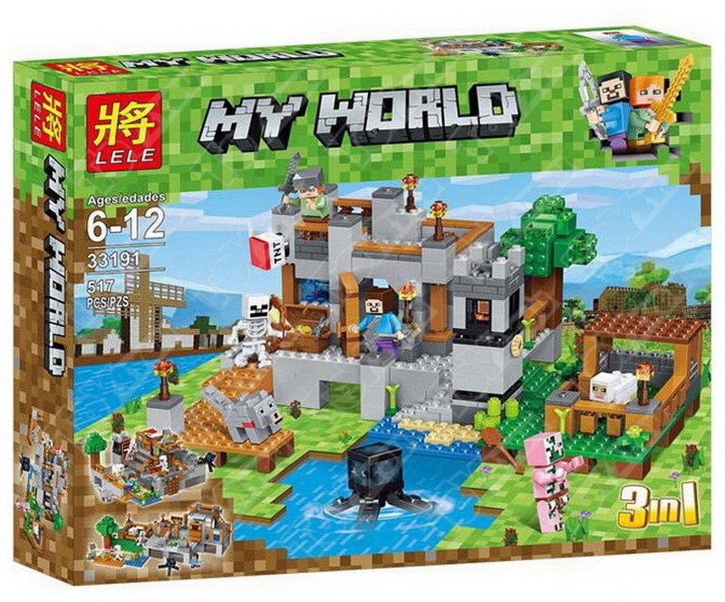 Конструктор MY World Береговая цитадель Майнкрафт 18013 BELA 18013(517 детали)