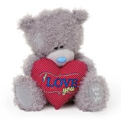Мишка G01W3429 Тедди Me to You 25 см с сердцем Я тебя люблю