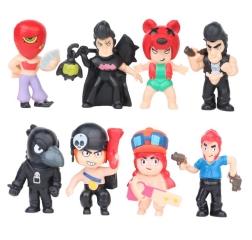 Набор из 8 героев Бравл Старс (Brawl Stars) Кольт, Нита, Пенни, Ворон, Тара, Мортис, Джесси, Булл