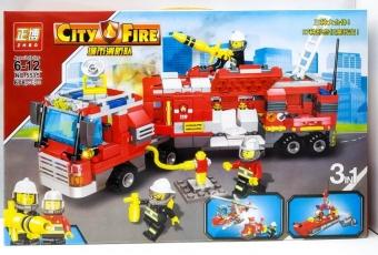 Конструктор City Fire 3 в 1 678 деталей (ZHBO NO 5515)