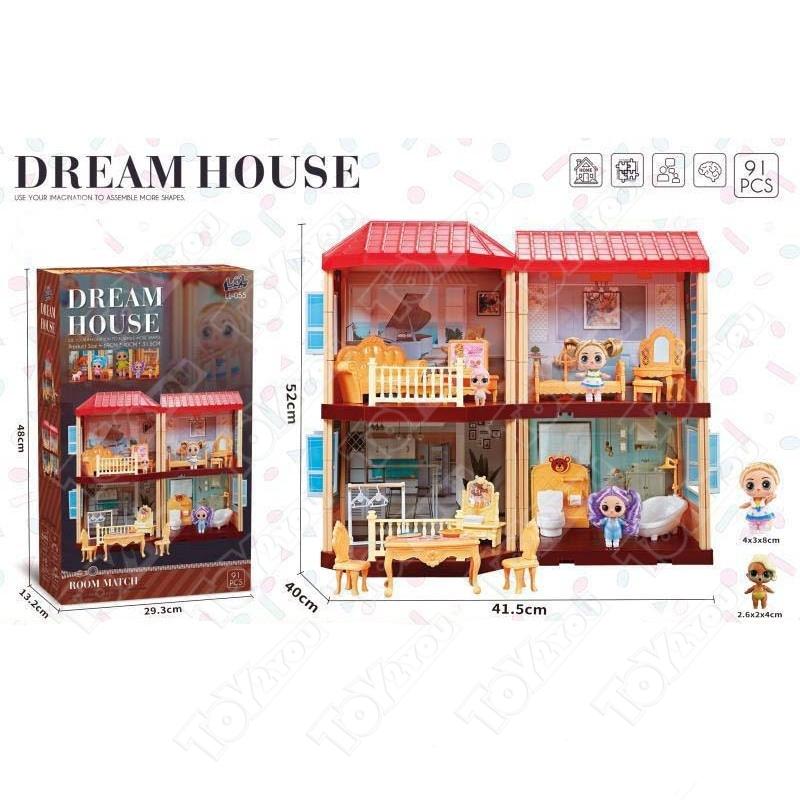 Кукольный домик Дреам хаус (Dream House LL - 055) 91 деталей
