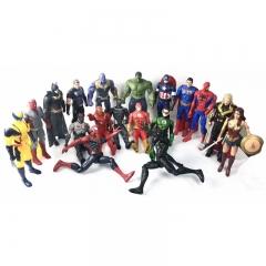 Игрушки Супергерои общий сбор 18 героев Лига Справедливости и Мстители вместе