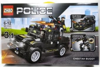 Конструктор Swat Police Полицейский грузовик 3 в 1, 726 деталей (ZBHO NO.5524)