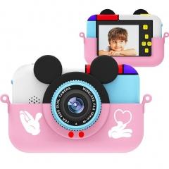 Детский цифровой фотоаппарат Микки Маус, розовый (28 Мпикс) 2 камеры