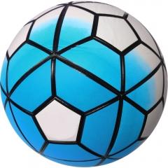 Мяч футбольный бело-голубой