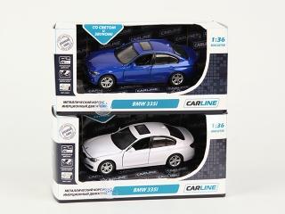 Машина 1:36 BMW 335i GT6974, металл, инерционная, со светом и звуком, в коробке TM CARLINE