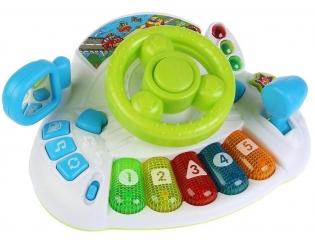 Детский обучающий руль-пианино Умка учим цифры, цвета (Умка 279428)