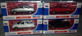 Машина 1:43 LADA 2110 GT8585, инерционная, металл, в коробке TM CARLINE