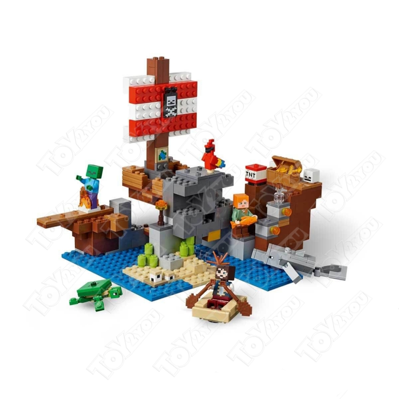 Конструктор MY World Приключения на пиратском корабле Майнкрафт 21152 BELA 11170(404 детали)