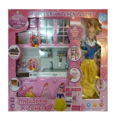 Кухня игрушечная с куклой