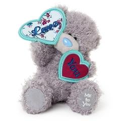 Мишка G01W3454 Тедди Me to You 18 см с сердечками