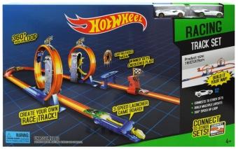 Трек Hot Wheel Опасный поворот с 2-мя промежуточными ускорителями