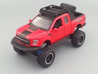 Модель автомобиля FORD Raptor 185х60 мм, красный