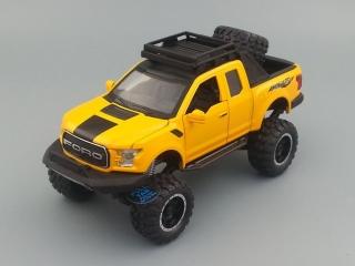 Модель автомобиля FORD Raptor 185х60 мм, жёлтый 32019y