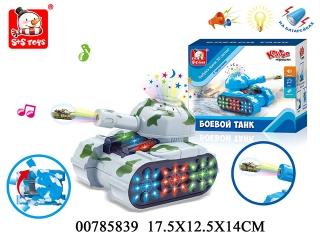Танк 00785839 со светом и звуком, на батарейках, в коробке 17,5*12,5*14см S+S TOYS