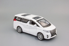 Модель автомобиля Toyota Alphard, 155х55 белый