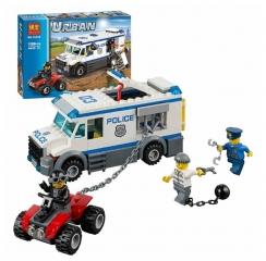 Конструктор City Полицейская машина для перевозки заключенных 198 деталей 60043 BELA 10418
