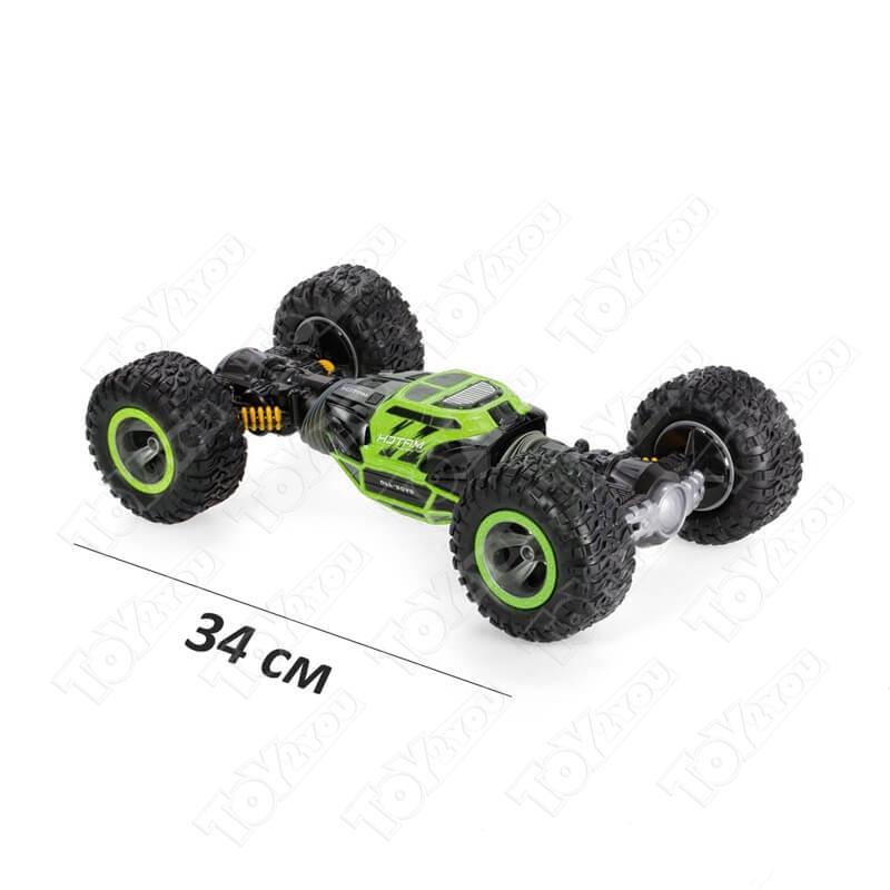 Машинка перевёртыш 34 см зеленая