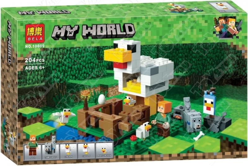 Конструктор MY World Курятник  Майнкрафт (21140) 10809  (204 детали)