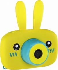 Детский Фотоаппарат Кролик Rabbit со встроенной памятью и играми (жёлтый)