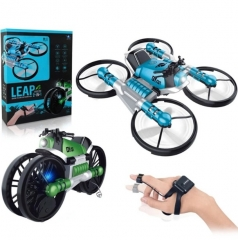 Мото-Квадрокоптер Fly Drive 2 в 1 LEAP управление жестами (синий)