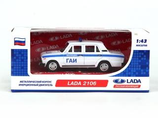 Машина 1:43 LADA 2106 GT7796, инерционная, металл в коробке TM CARLINE