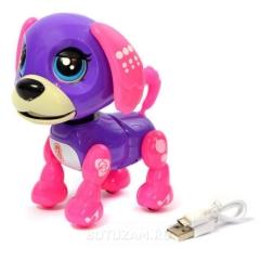 Интерактивная игрушка смышленый питомец фиолетовый (NO:5599-7 Собачка)