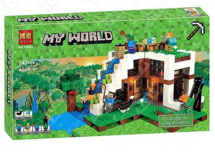 Конструктор MY World База на воде Майнкрафт 21134 BELA 10624(747 детали)
