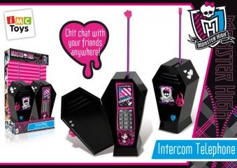 Телефон 870260 со светом и звуком, на батарейках, в коробке, 26,2*14,1*35,5 см ТМ MONSTER HIGH