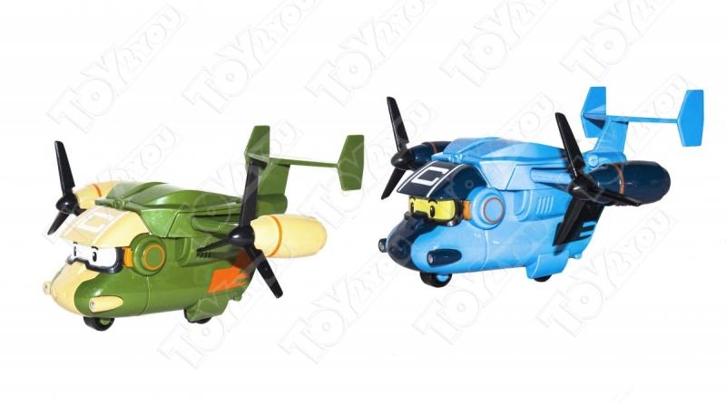 Набор трансформеров Робокар Поли 6 + 2 Самолета (Robocar Poli)